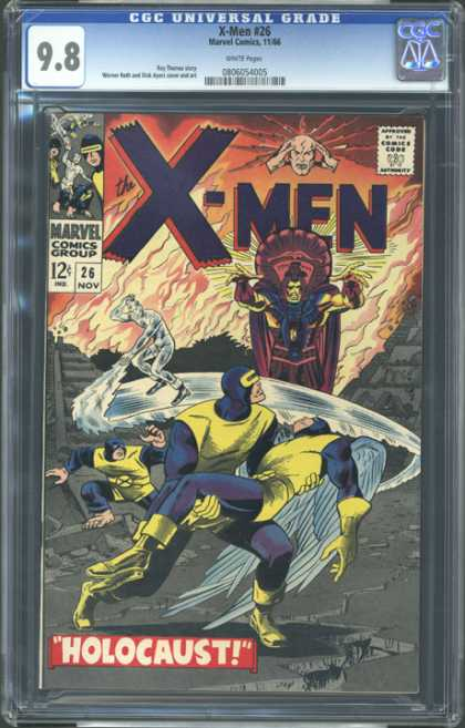CGC Graded Comics - X-Men #26 (CGC) - Marvel Comics - X-men - Comics Code Authority - Holocaust - Fire