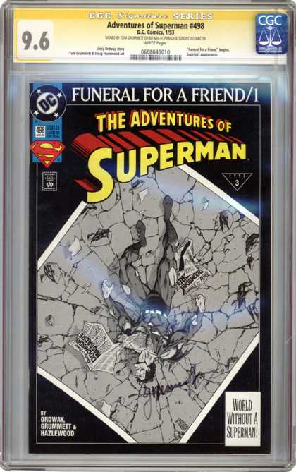 CGC Graded Comics - Adventures of Superman #498 (CGC)