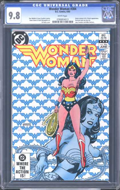 CGC Graded Comics - Wonder Woman #304 (CGC) - Stars - Femal - Bathing Suit - Rope - Boots