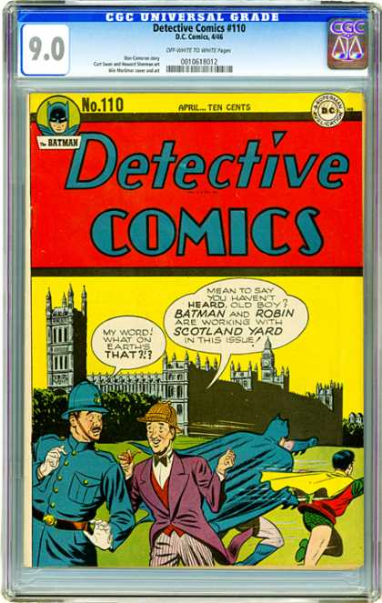CGC Graded Comics - Detective Comics #110 (CGC) - Batman - Ten Cents - Robin - Superhero - Scotland Yard
