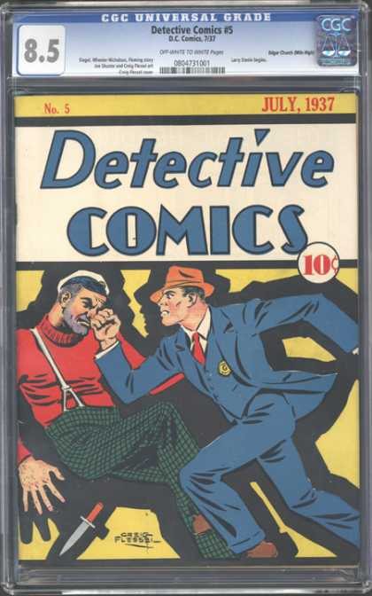 CGC Graded Comics - Detective Comics #5 (CGC) - July 1937 - Punch - Knife - Badge - Detective