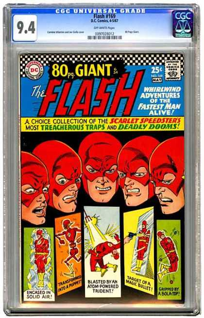 CGC Graded Comics - Flash #169 (CGC) - Cgc Universal Grade - Flash 169 - Dccomics - 80 Pg Giant - Encased In Solid Air