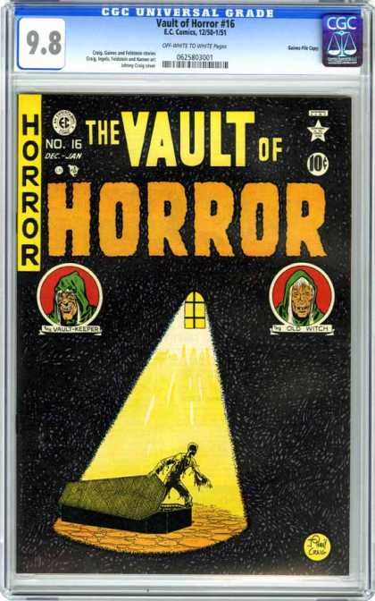CGC Graded Comics - Vault of Horror #16 (CGC) - The Vault Of Horror - Coffin - Zombie - Dead - Old Witch