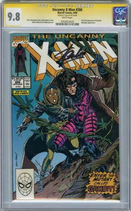 CGC Graded Comics - Uncanny X-Men #266 (CGC) - Autograph - Uncanny X-men - Gambit - Vines - Running