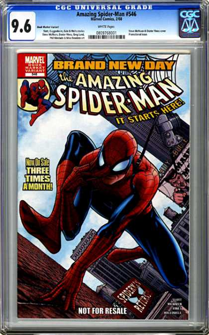 CGC Graded Comics - Amazing Spider-Man #546 (CGC) - Marvel - Brand New Day - The Amazing Spider-man