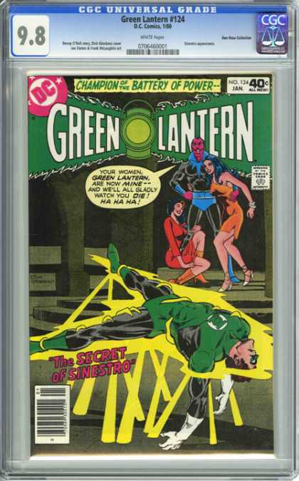 CGC Graded Comics - Green Lantern #124 (CGC) - Green Lantern - Your Women Green Lantern Are Now Mine And Well All Gladly Watch You Die - The Secret Of Sinestro - Pink Man - Trap
