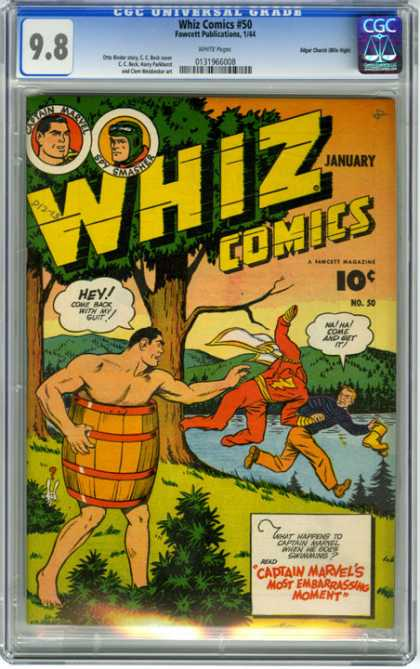 CGC Graded Comics - Whiz Comics #50 (CGC) - Whiz Comics - Tree - Water - January - Marvel