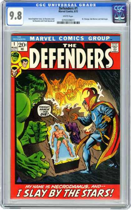 CGC Graded Comics - Defenders #1 (CGC) - Cgc Hologram - Graded - Hulk - Sub-mariner - Ghost