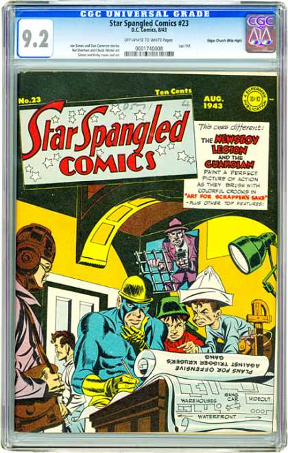 CGC Graded Comics - Star Spangled Comics #23 (CGC) - Star Spangled Comics - The Newsboy Legion And The Guardian - Art For Scrappers Sake - Plans - Green Lamp