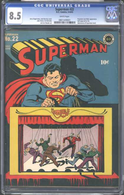 CGC Graded Comics - Superman #22 (CGC) - Superman - Superhero - Marionettes - Puppet Show - Strings