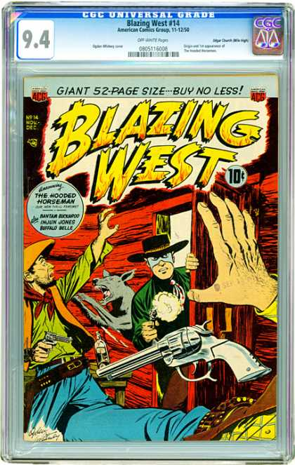 CGC Graded Comics - Blazing West #14 (CGC)