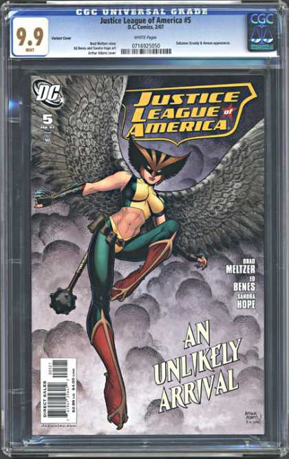 CGC Graded Comics - Justice League of America #5 (CGC) - Cgc Universal Grade - Justice League Of America 5 - An Unlikely Arrival - Meltzer - Benes