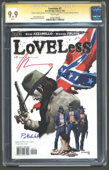 CGC Graded Comics - Loveless #2 (CGC) - Loveless - Gun - Hat - Union Jack - 3 Men