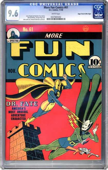 CGC Graded Comics - More Fun Comics #61 (CGC)