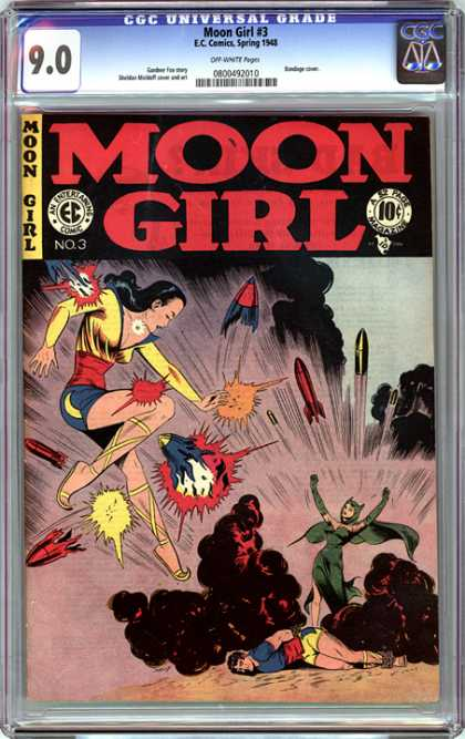 CGC Graded Comics - Moon Girl #3 (CGC) - Moon Girl - Superhero - Rockets - An Entertaining - Magazine