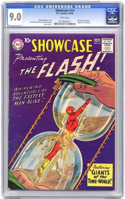 CGC Graded Comics - Showcase #14 (CGC) - Super Man - Adventures Man - Showcase - Fastest Man - Alive Man
