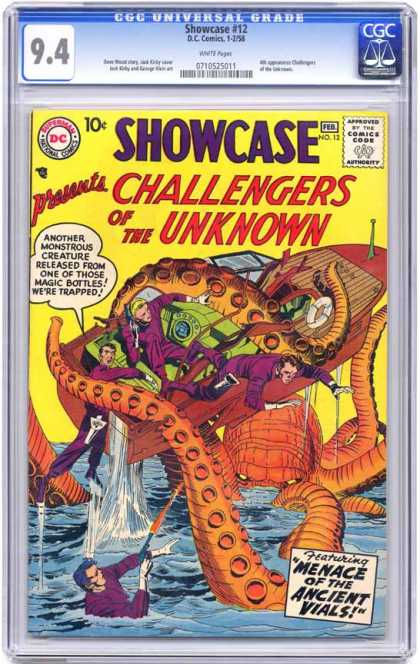 CGC Graded Comics - Showcase #12 (CGC) - Challengers - Creature - Monster - Boat - Danger