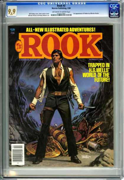CGC Graded Comics - Rook #2 (CGC) - All-new Illustrated Adventures - The Rook - Trapped In Hgwells - Guns - Man