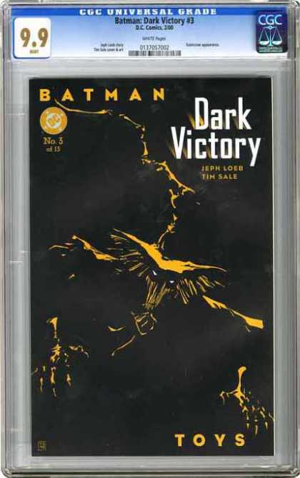 CGC Graded Comics - Batman: Dark Victory #3 (CGC) - Batman - Dark Victory - Black - Evil - Night