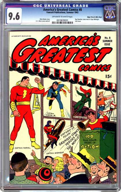 CGC Graded Comics - America's Greatest Comics #8 (CGC)