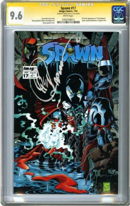CGC Graded Comics - Spawn #17 (CGC) - Water - Scared - Eye - Monster - Color