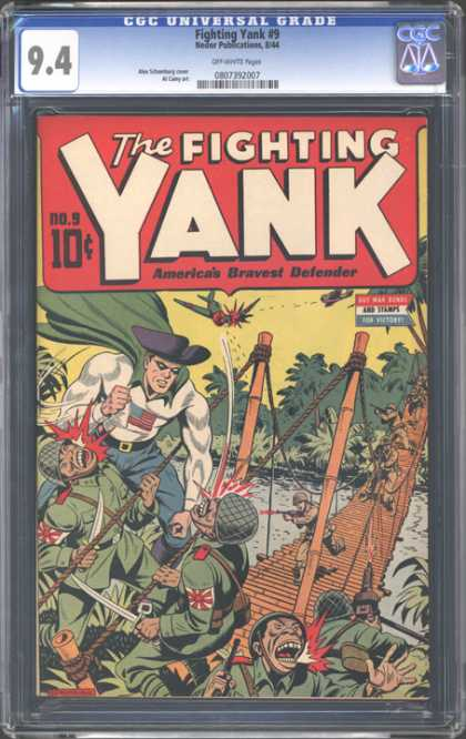 CGC Graded Comics - Fighting Yank #9 (CGC) - The Fighting Yank - Soldier - Airplanes - Battle - Hero