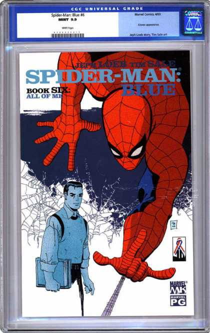 CGC Graded Comics - Spider-Man: Blue #6 (CGC) - Spiderman - Blue - Web - Book 6 - Hanging