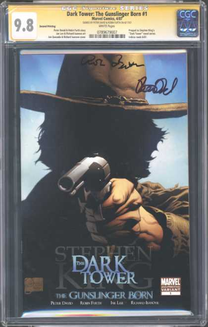 CGC Graded Comics - Dark Tower: The Gunslinger Born #1 (CGC) - Stephen King - The Gunslinger - Dark Tower - Cowboy Hat - Gun