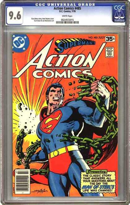 CGC Graded Comics - Action Comics #485 (CGC)