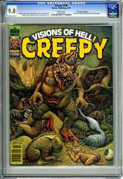 CGC Graded Comics - Creepy #108 (CGC) - Visions Of Hell - Creepy - Warren Magazine - Green - Alien