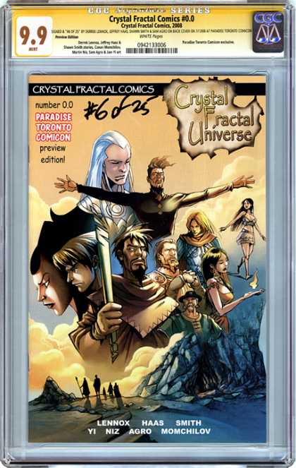 CGC Graded Comics - Crystal Fractal Comics #0.0 (CGC) - Crystal Fractal Universe - Paradise Toronto Comicon - Mage - Number 00 - Heroes