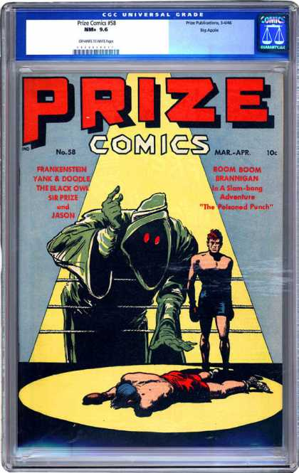 CGC Graded Comics - Prize Comics #58 (CGC) - Prize Comics - Boxing - Ring - Knockout - Slam Bang Adventure
