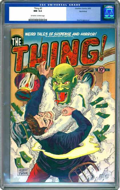 CGC Graded Comics - Thing #3 (CGC) - Weird Tales - Suspense And Horror - Forked Tongue - Money - Lantern