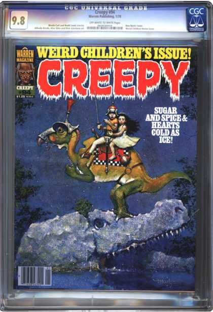 CGC Graded Comics - Creepy #94 (CGC) - Cold World Afar - Solitude No More - Winter Nightmere Of Surprise - The Next Night Of Fear - Two Worlds Apart