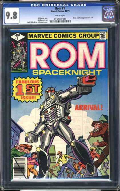 CGC Graded Comics - Rom #1 (CGC) - Rom - Robot - Buildings - People - Spaceknight