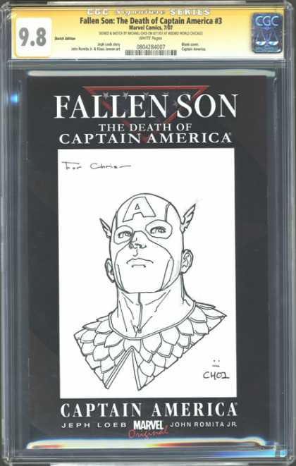 CGC Graded Comics - Fallen Son: The Death of Captain America #3 (CGC) - The Death Of Captain America - Marvel Original - Fallen Son - Plain Drawing - C401