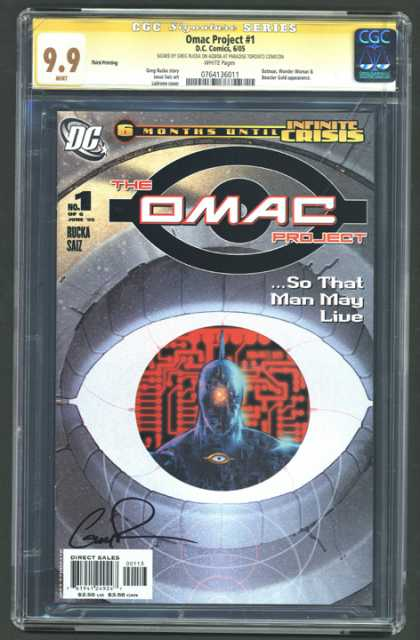 CGC Graded Comics - Omac Project #1 (CGC)