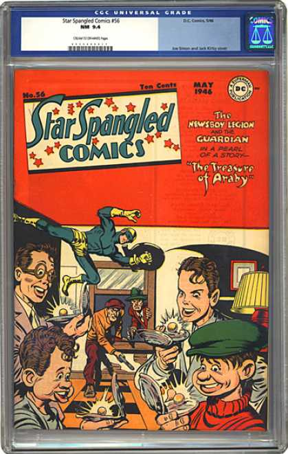 CGC Graded Comics - Star Spangled Comics #56 (CGC) - The Newsboy Legion - The Treasure Of Araby - Pearls - Window - Clams