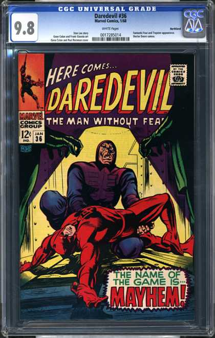CGC Graded Comics - Daredevil #36 (CGC) - Daredevil - The Man Without Fear - Marvel Comics - Mayhem - Red Man