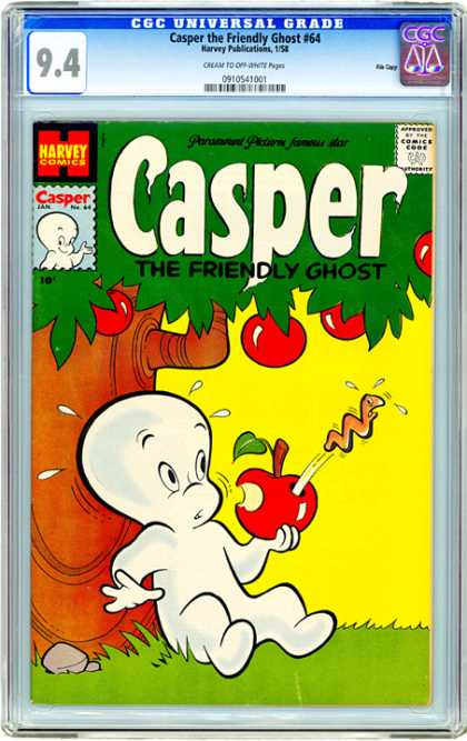 CGC Graded Comics - Casper the Friendly Ghost #64 (CGC) - 64 - Apples - Worm - Tree - Surprise