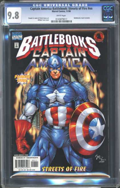 CGC Graded Comics - Captain America Battlebook: Streets of Fire #nn (CGC) - Circle Of Flame - Muscles - Star - Shield - Profile
