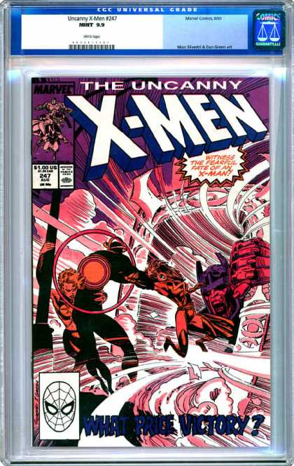 CGC Graded Comics - Uncanny X-Men #247 (CGC) - Uncanny X-men - What Price Victory - Number 247 - Fearful X-men - Blowing Wind