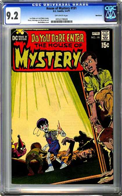 CGC Graded Comics - House of Mystery #191 (CGC) - Fear - Scary - Horror - Bad - Children