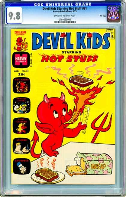CGC Graded Comics - Devil Kids Starring Hot Stuff #61 (CGC) - Fire - Hot Stuff - Bread - Devil Child - Harvey Comics