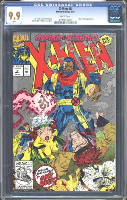 CGC Graded Comics - X-Men #8 (CGC) - Charming - Chaotic - Space Like - Going Crazy - Magical