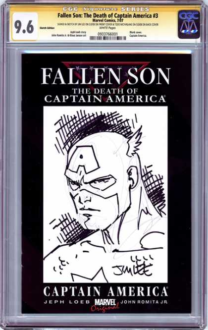 CGC Graded Comics - Fallen Son: The Death of Captain America #3 (CGC) - Fallen Son - The Death Of Captain America - 3 - Captain America - Jeph Loeb