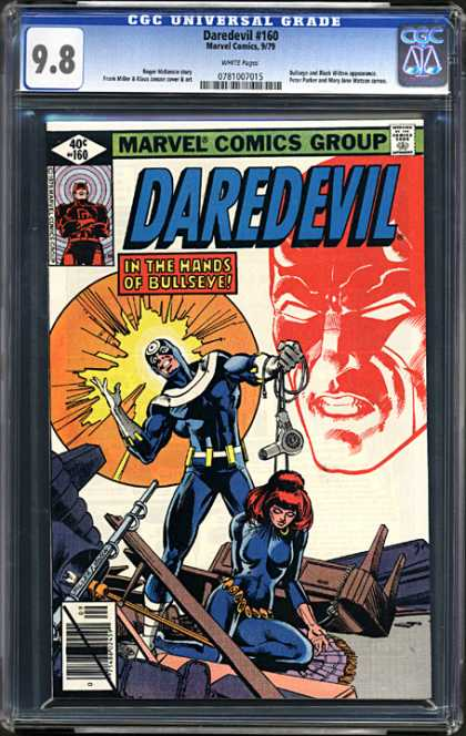 CGC Graded Comics - Daredevil #160 (CGC) - Bullseye - Hair Dryer Weapon - Daredevil Looking On - Madness - Home Wrecker