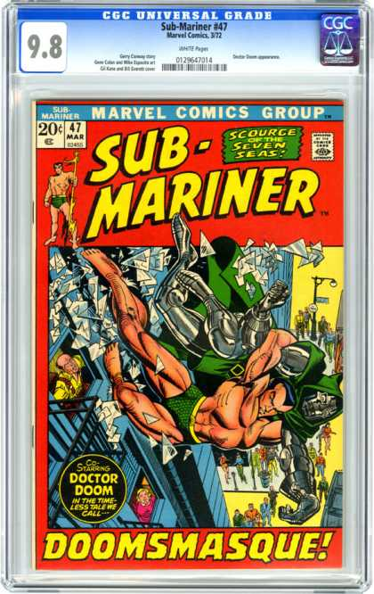 CGC Graded Comics - Sub-Mariner #47 (CGC) - Sub Mariner - Scourge Of The Seven Seas - Doomsmasque - Doctor Doom - 47 Mar