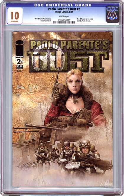CGC Graded Comics - Paolo Parente's Dust #2 (CGC) - Russian - Blonde Woman - Cross - Clevage - Guns