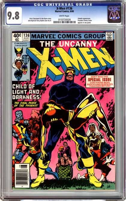 CGC Graded Comics - X-Men #136 (CGC) - The Uncanny X-men - Cyclops - Nightcrawler - Storm - Child Of Light And Darkness